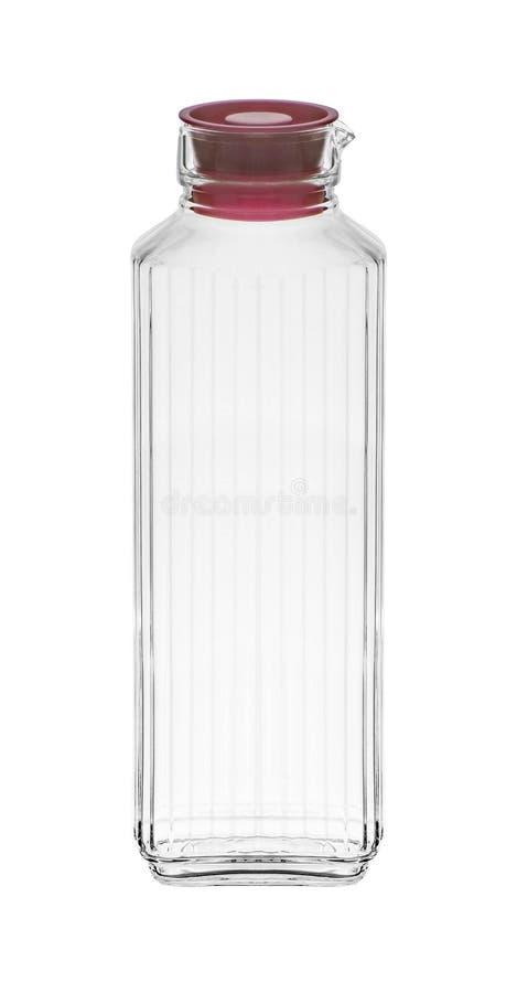 Frasco de vidro isolado no branco imagens de stock