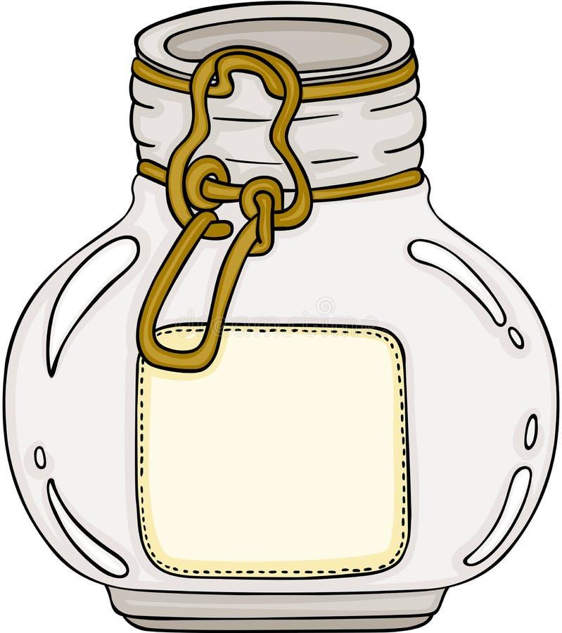 Frasco de vidro redondo ilustração royalty free