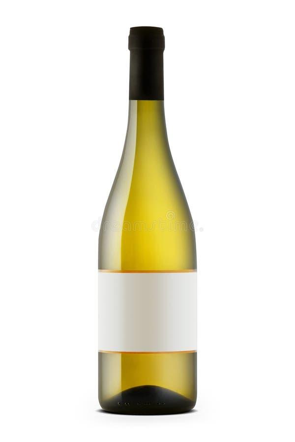 Frasco de vinho branco imagens de stock