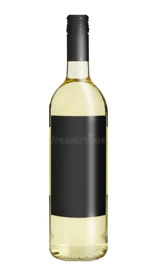 Frasco de vinho branco fotografia de stock