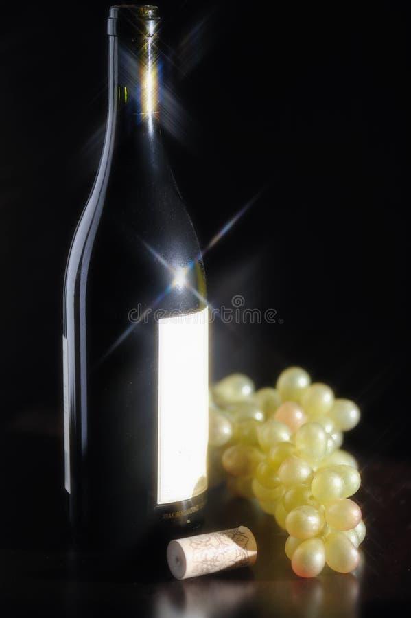 Frasco de vinho branco imagem de stock