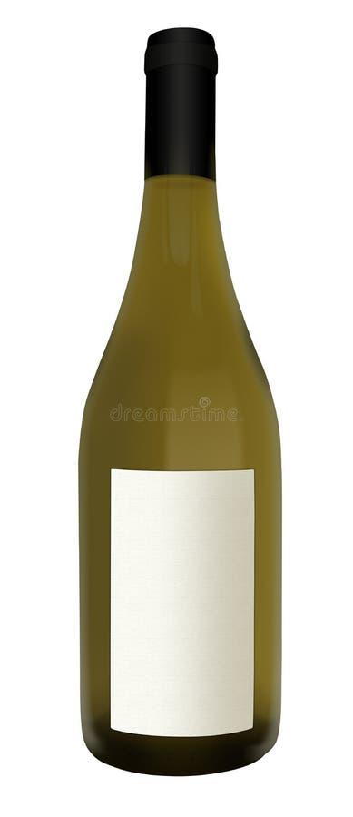 Frasco de vinho branco com etiqueta imagens de stock royalty free