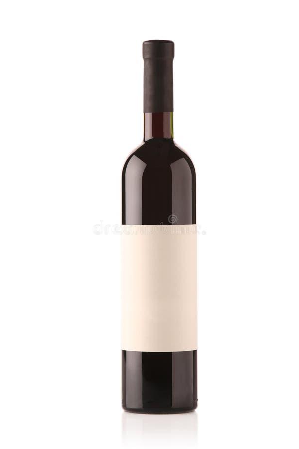 Frasco de vinho com etiqueta em branco imagem de stock royalty free