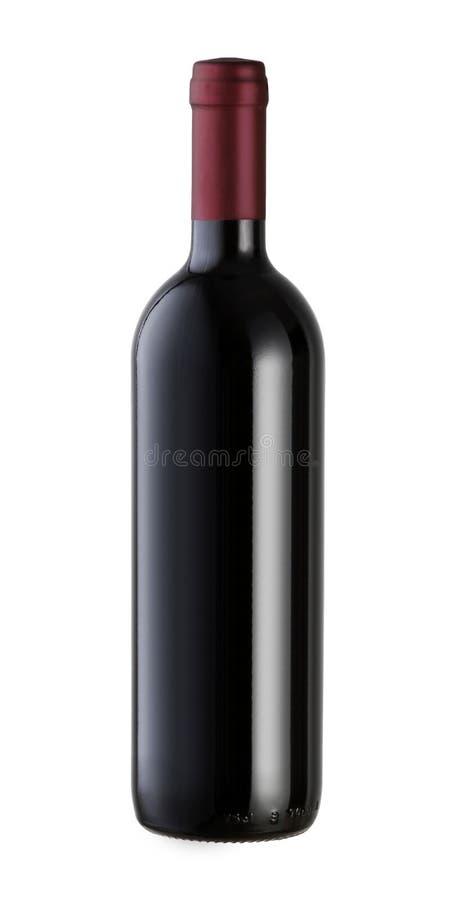 Frasco de vinho isolado fotografia de stock