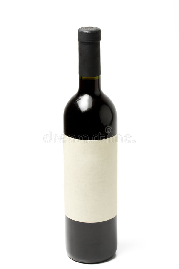 Frasco de vinho isolado foto de stock royalty free
