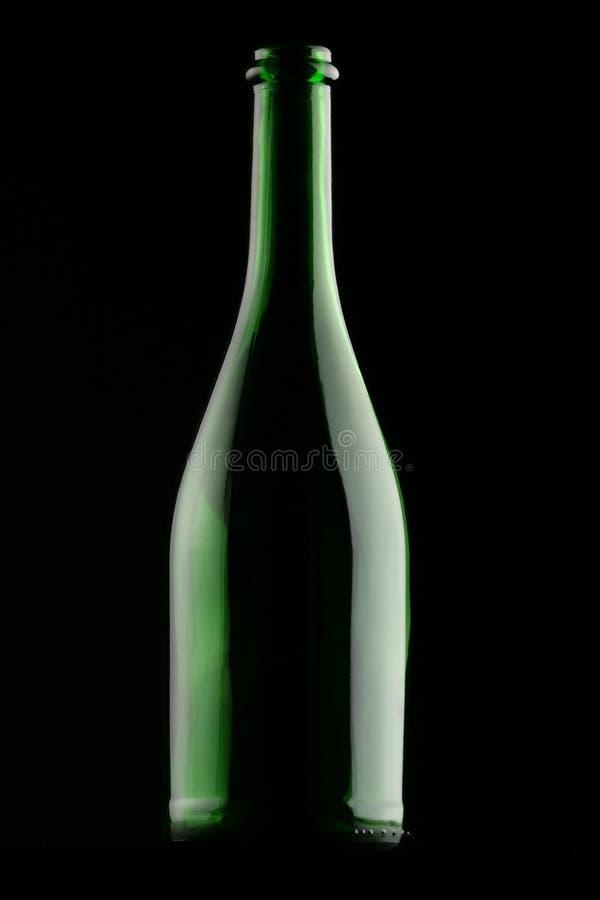 Frasco de vinho sombreado imagens de stock