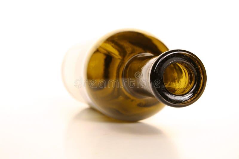 Frasco de vinho vazio fotografia de stock