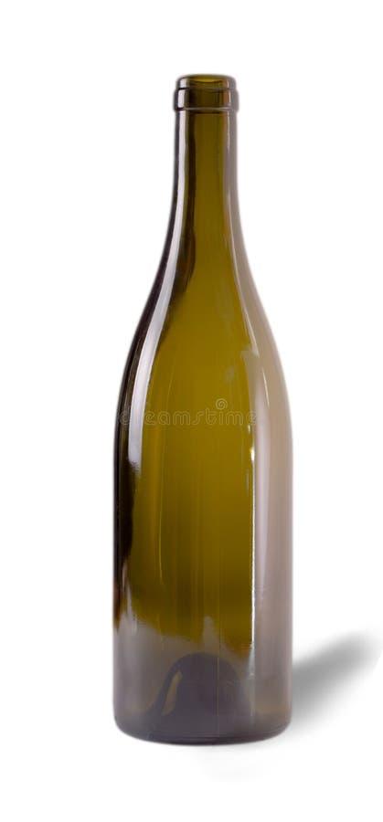 Frasco de vinho vazio imagem de stock