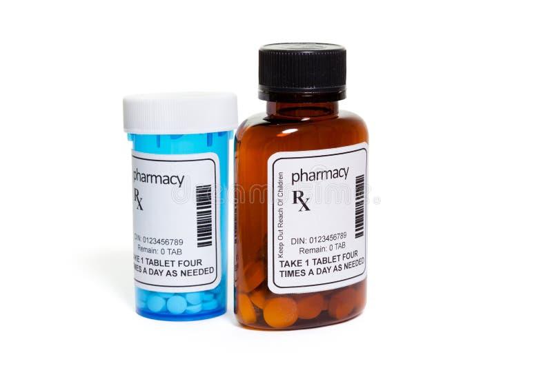 Frasco do comprimido imagem de stock