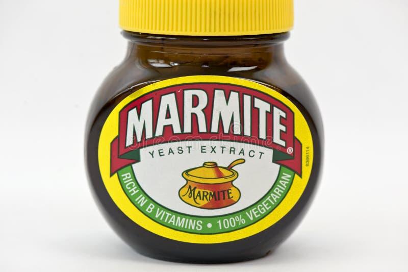 Frasco do Marmite fotografia de stock
