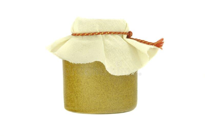 Frasco do mel, no fundo branco foto de stock royalty free