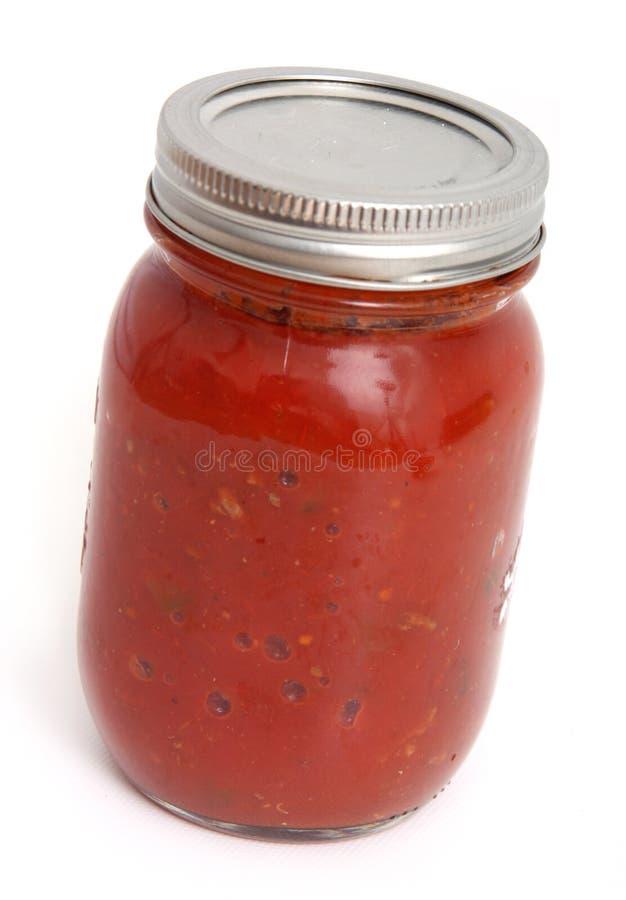 Frasco do molho de tomate fotos de stock