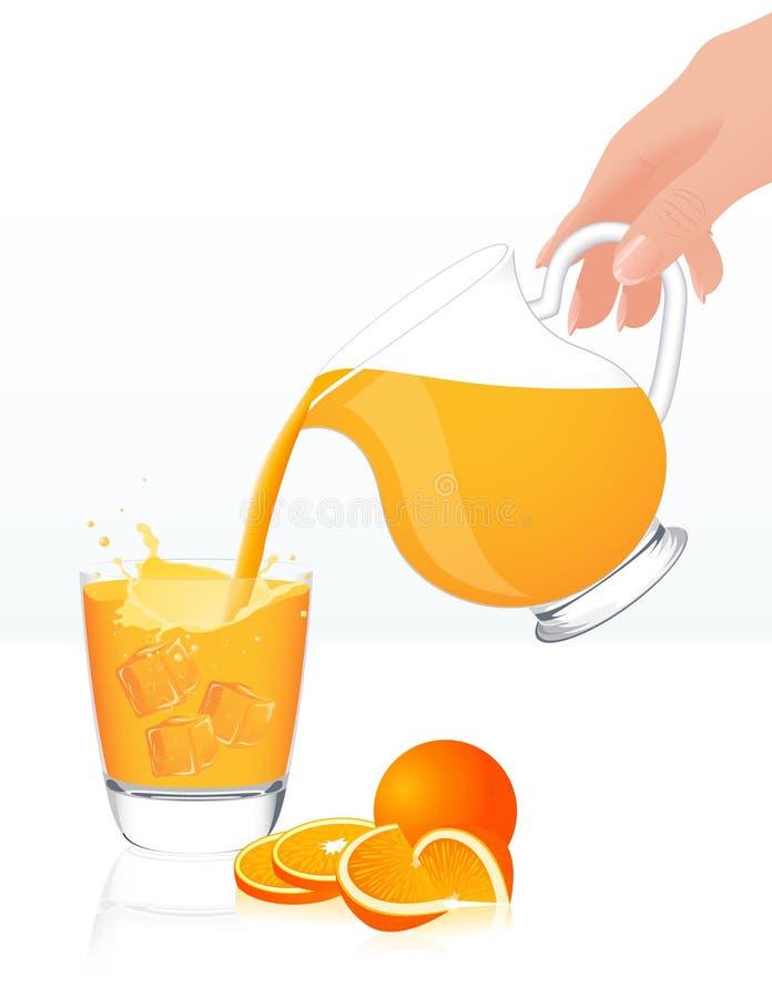 Frasco do sumo de laranja ilustração royalty free