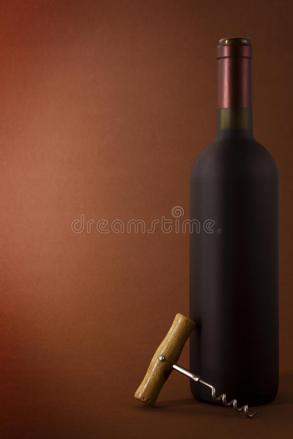 Frasco do vinho fotografia de stock royalty free