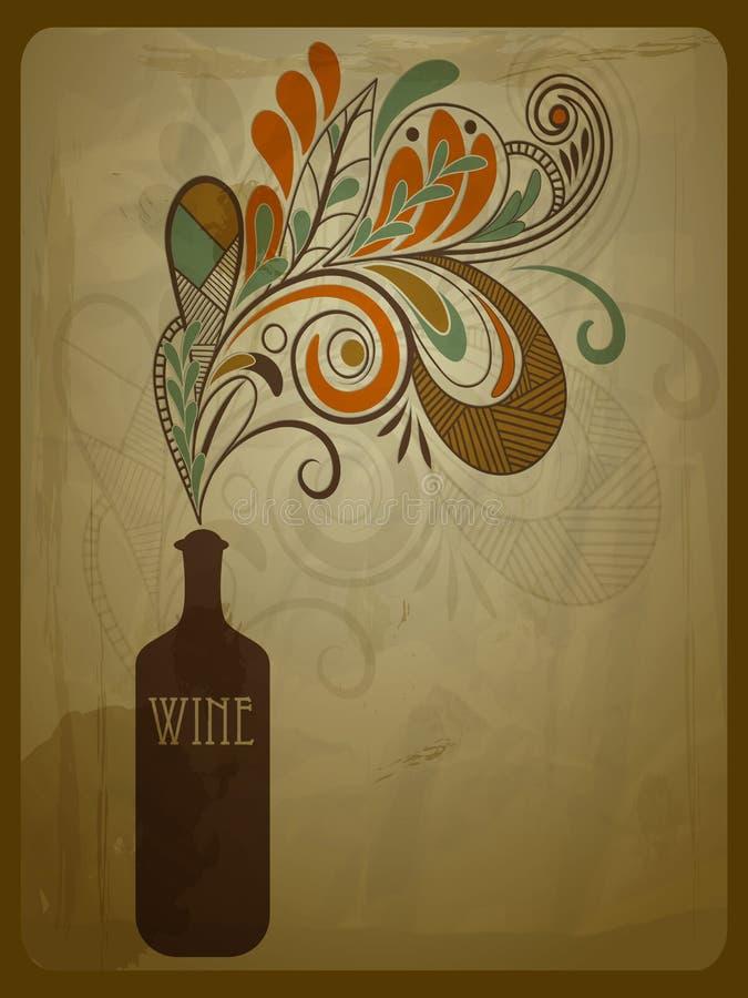 Frasco do vinho ilustração stock