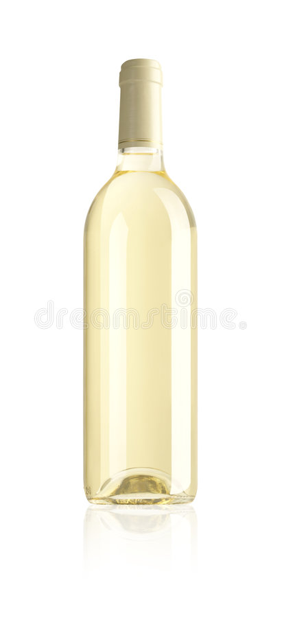 Frasco do vinho branco imagem de stock