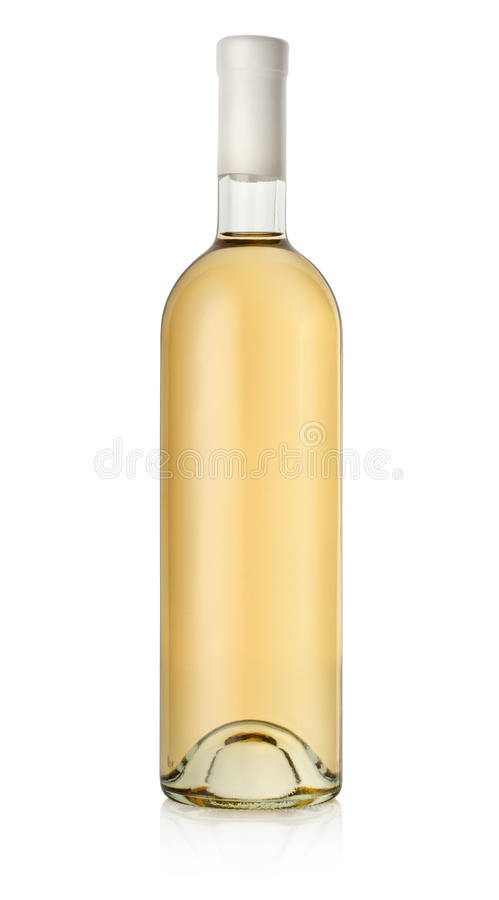 Frasco do vinho branco fotografia de stock