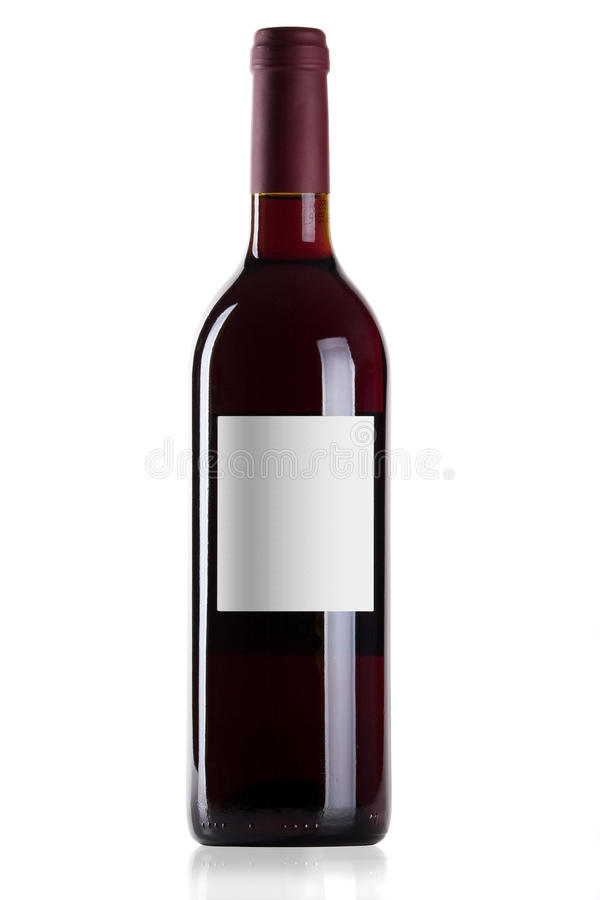 Frasco do vinho vermelho fotografia de stock royalty free