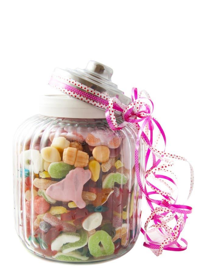 Frasco dos doces imagens de stock