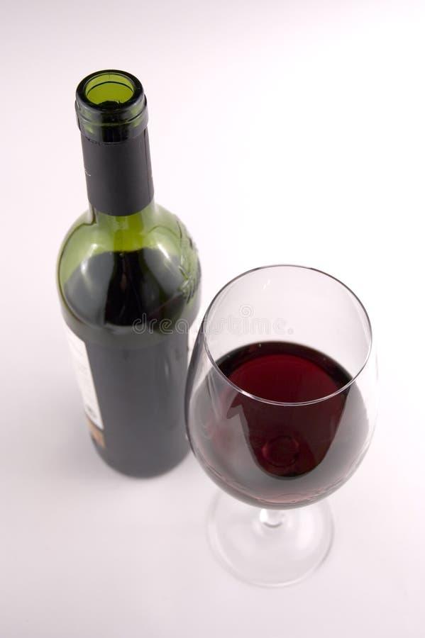 Frasco e vidro do vinho fotografia de stock royalty free