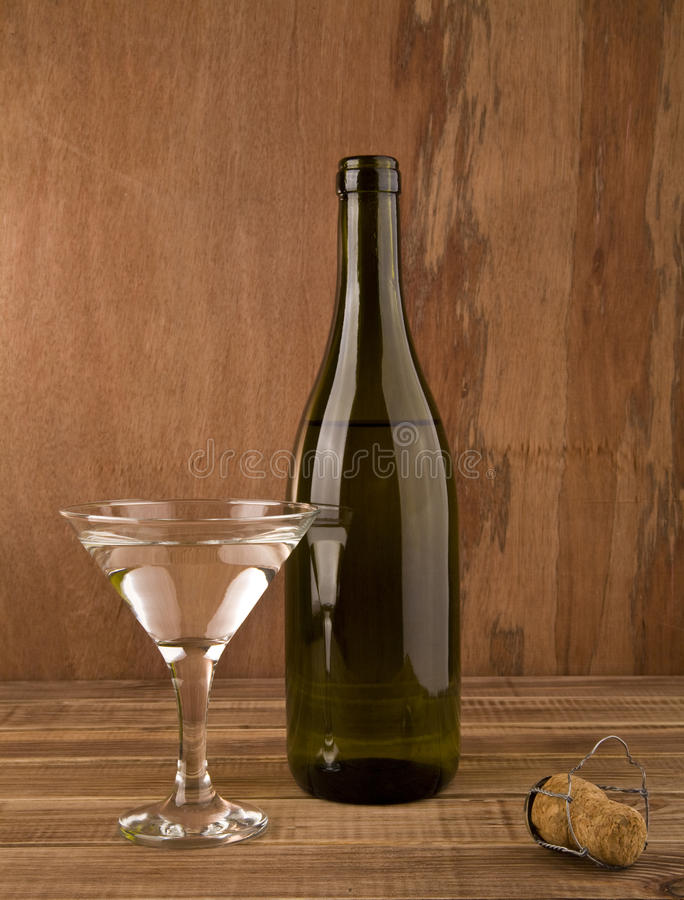 Frasco e vidro do vinho imagem de stock