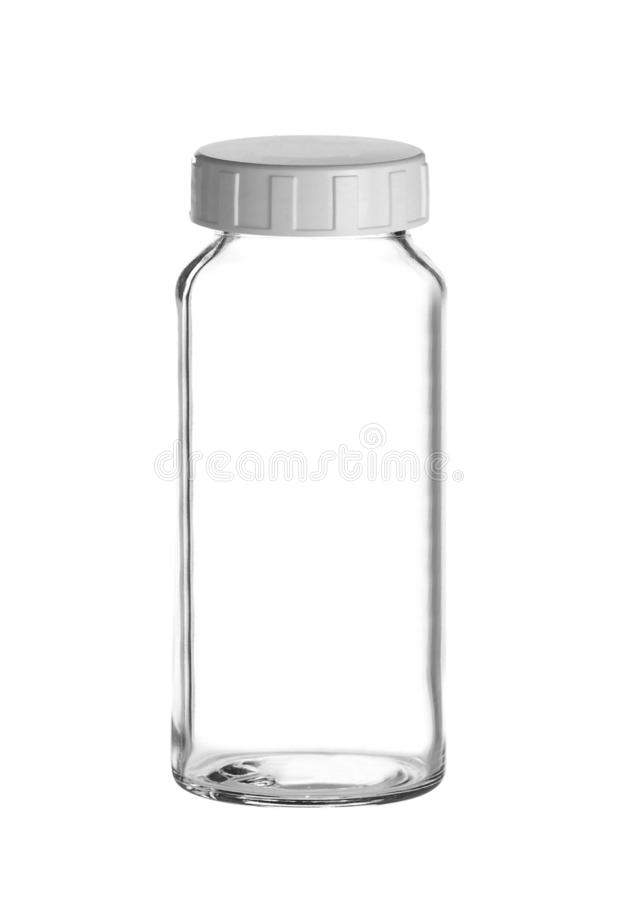 Frasco médico do vidro desobstruído foto de stock royalty free