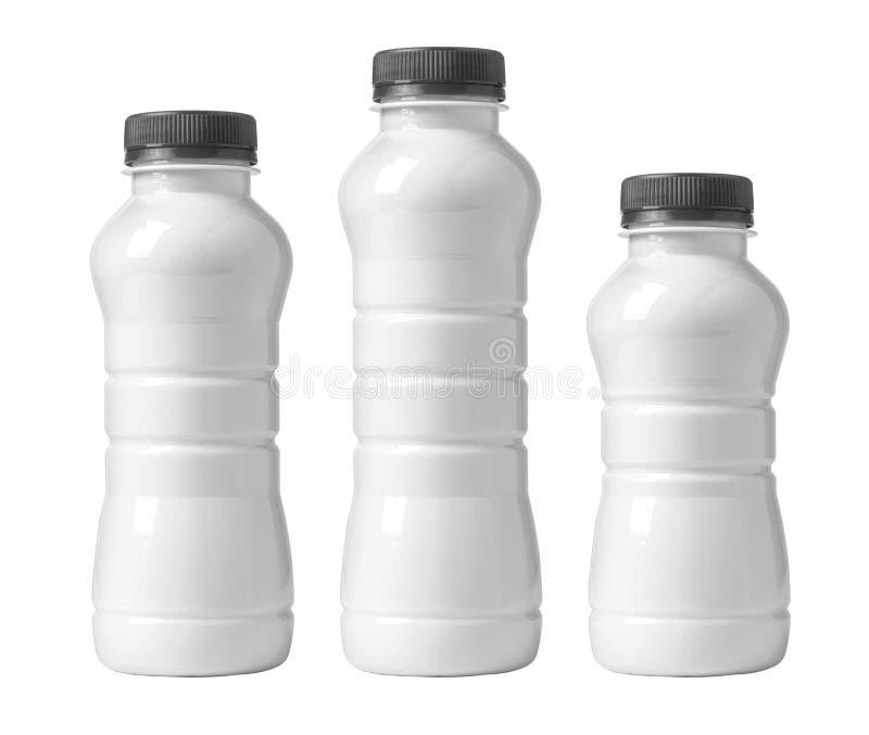 Frasco plástico branco fotografia de stock