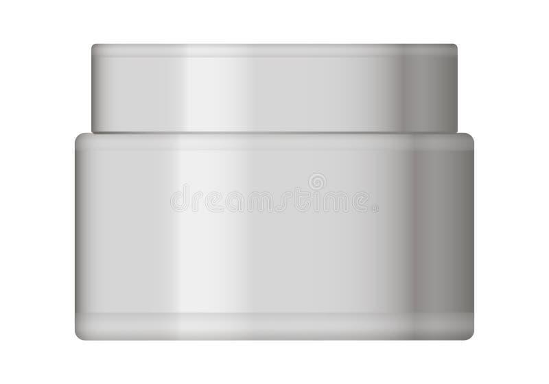 Frasco plástico branco com tampão redondo ilustração do vetor