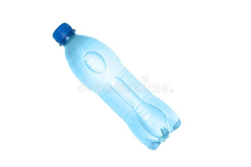 Frasco plástico da água fotografia de stock