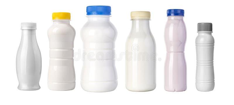 Frasco plástico no branco fotos de stock royalty free