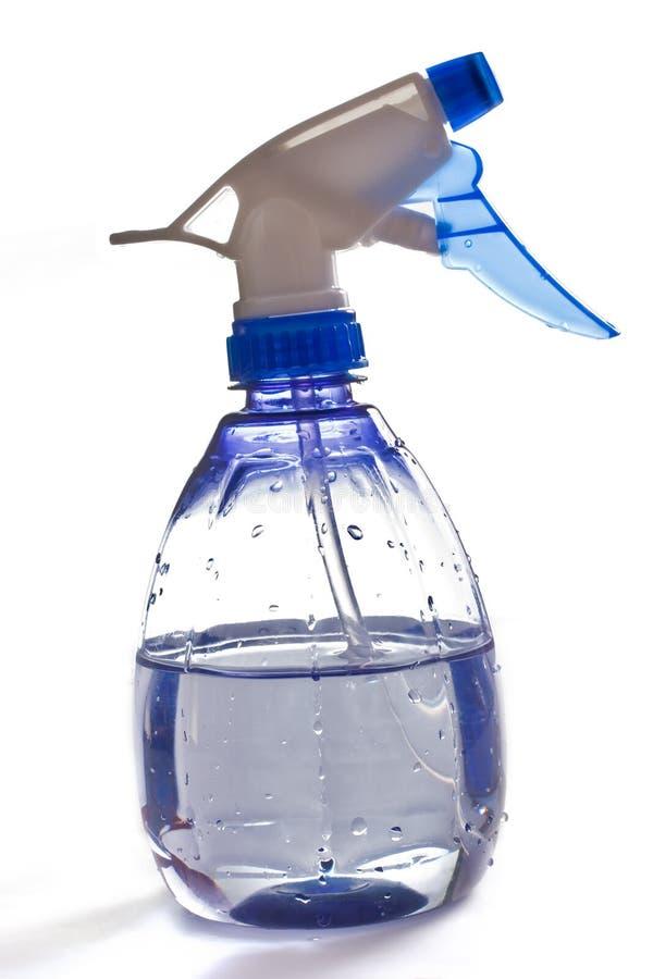 Frasco plástico transparente do pulverizador imagem de stock