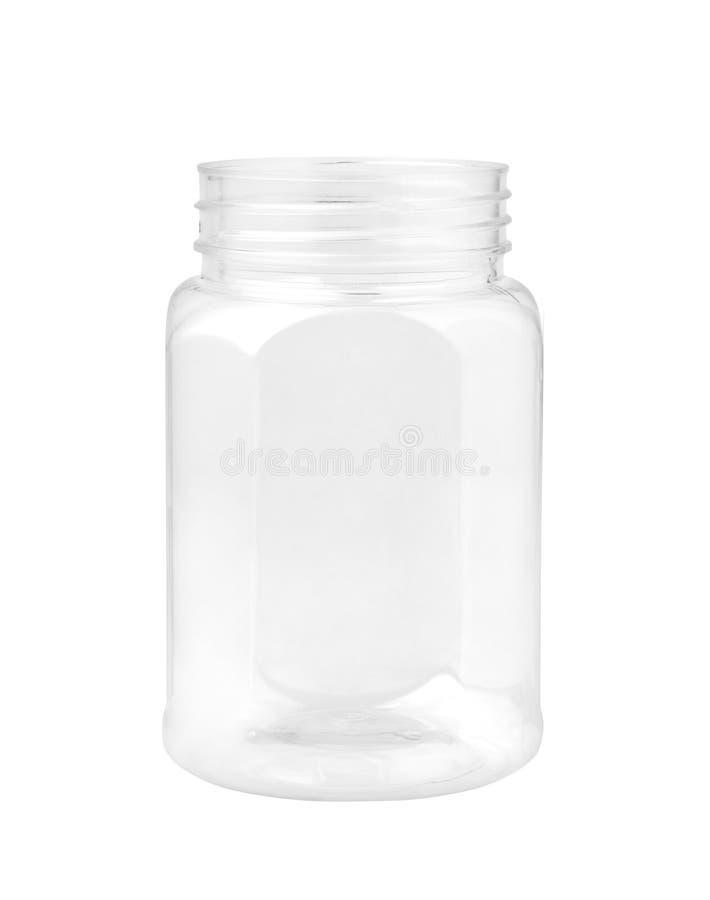 frasco plástico vazio foto de stock