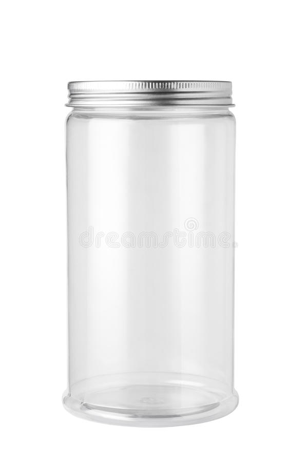 frasco plástico vazio foto de stock royalty free