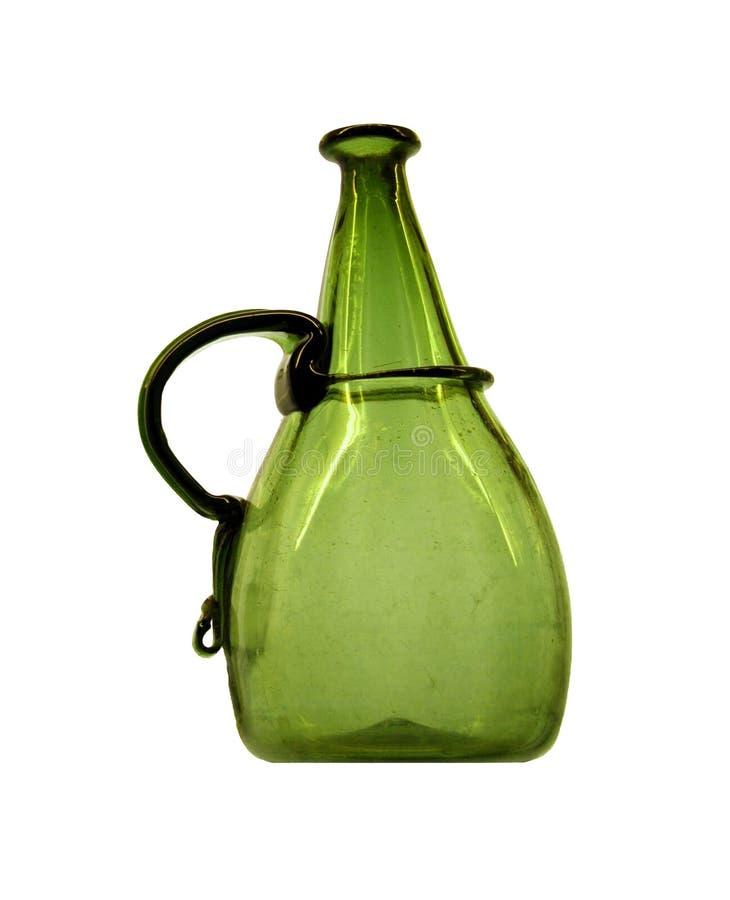 Frasco verde fotografia de stock