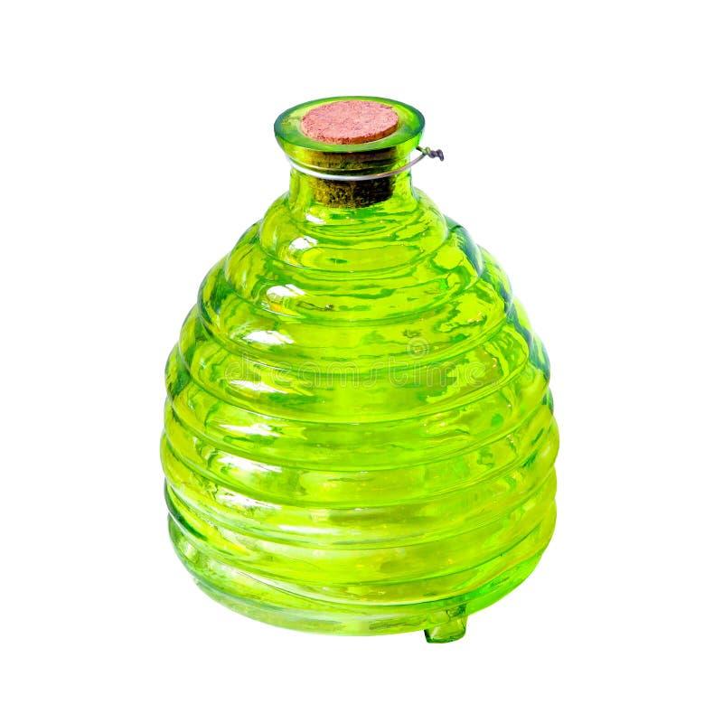 Download Frasco verde imagem de stock. Imagem de vidro, objeto - 16861755