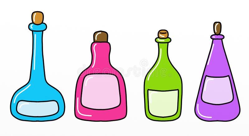 Frascos coloridos ilustração royalty free
