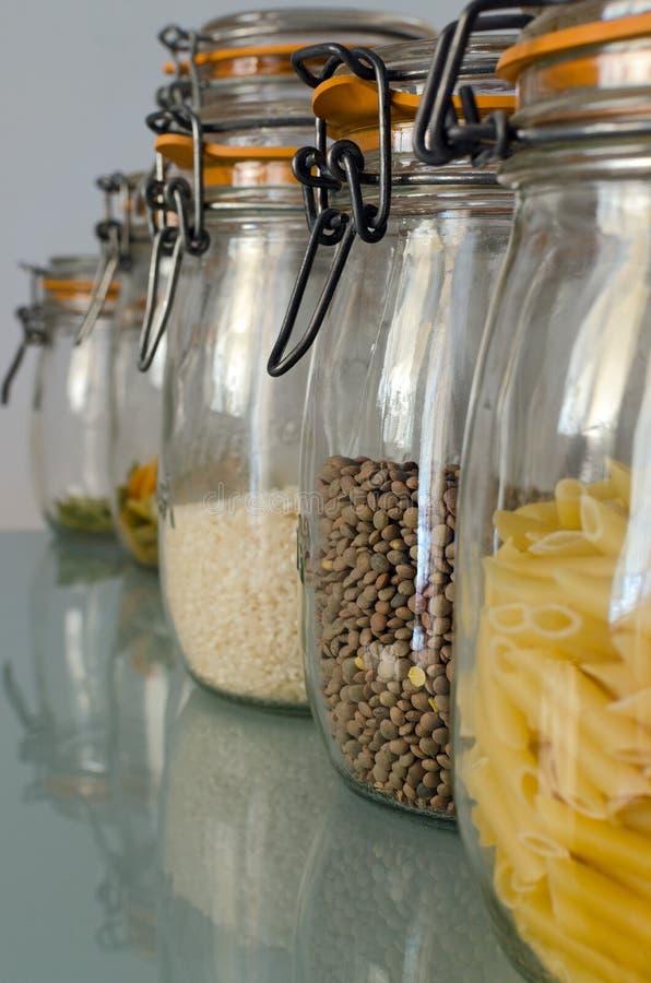 Frascos da cozinha fotos de stock