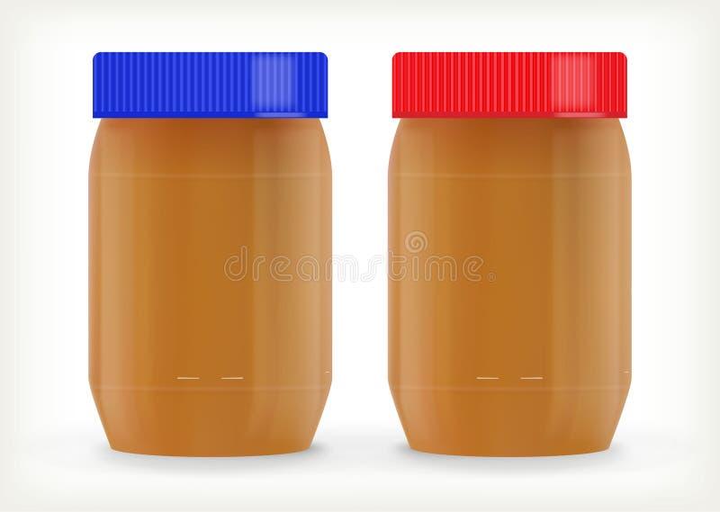 Frascos da manteiga de amendoim imagens de stock royalty free