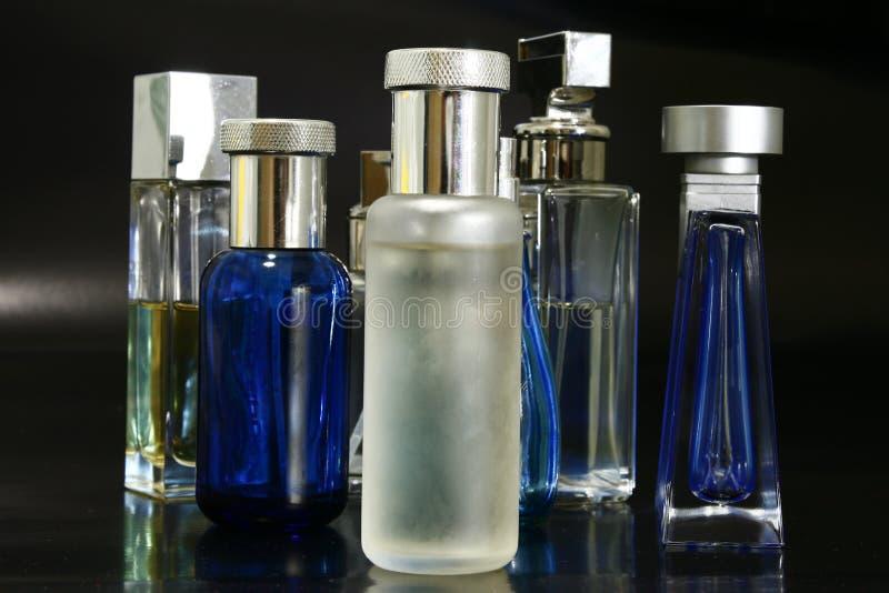 Frascos das fragrâncias imagens de stock