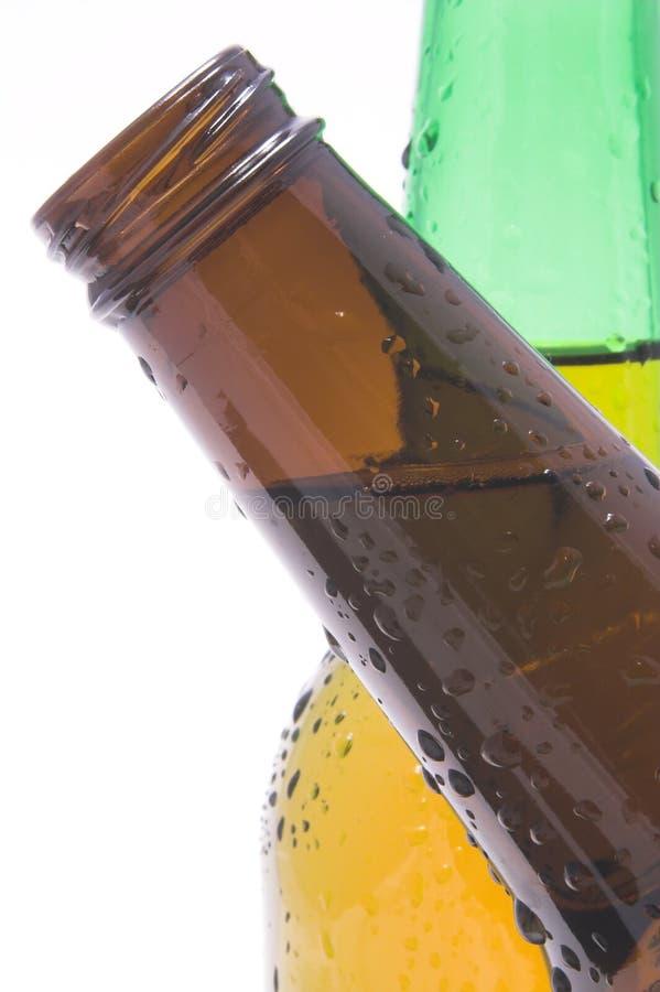 Frascos de cerveja do cruzamento fotografia de stock