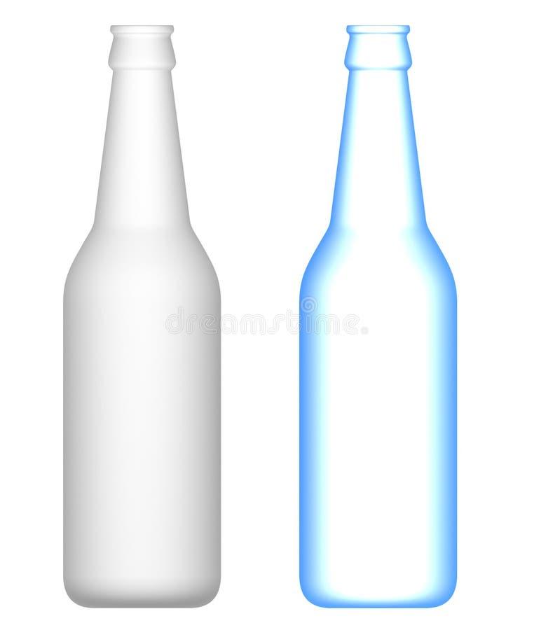 Frascos de cerveja: Transparente e opaco ilustração royalty free