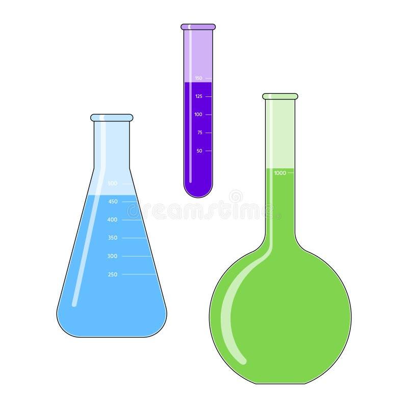 Frascos de la ciencia libre illustration