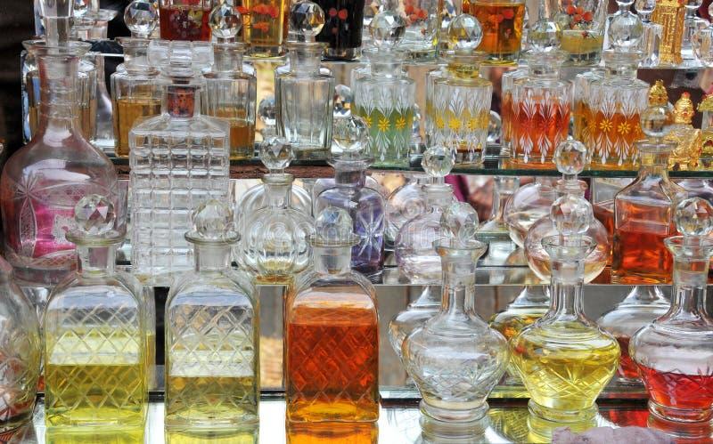 Frascos de perfume imagens de stock royalty free