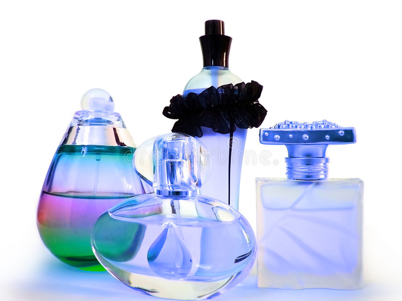 Frascos de perfume fotos de stock royalty free