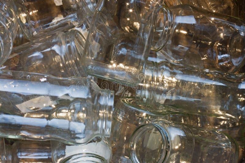 Frascos de vidro fotos de stock
