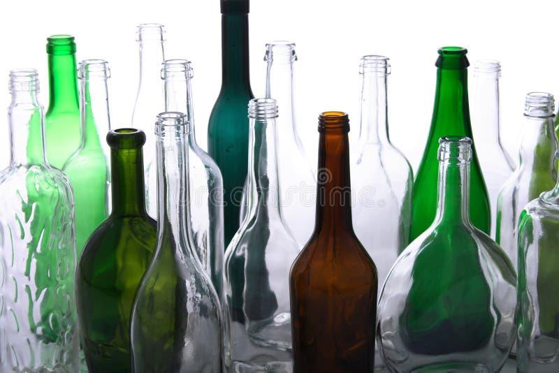 Frascos de vidro imagem de stock