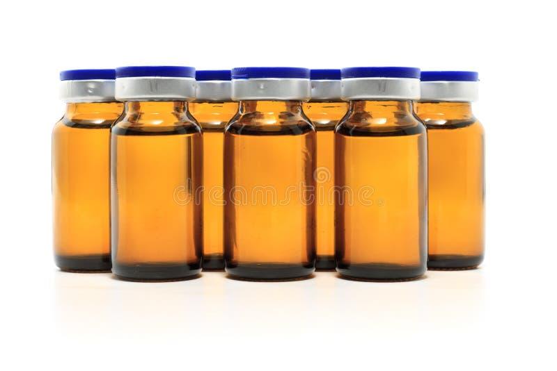 Frascos de vidro e medicina foto de stock royalty free