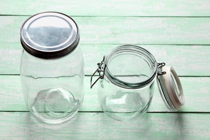 Frascos de vidro imagens de stock
