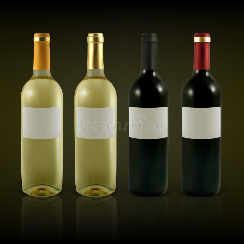 Frascos de vinho ilustração royalty free