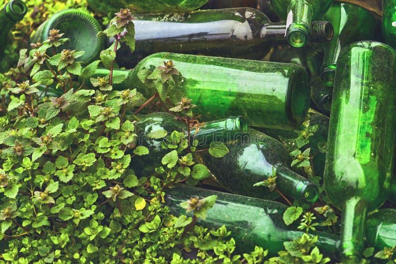 Frascos de vinho vazios imagens de stock royalty free